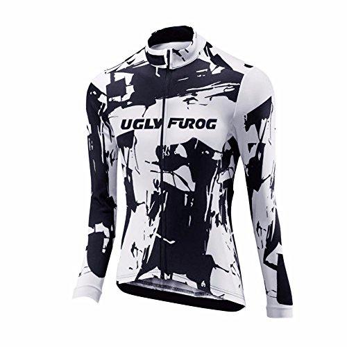 Uglyfrog Bike Wear Radsport Bekleidung Damen Thermo Fahrradtrikot Langarm Winter Radtrikot Pro/Windstopper / Atmungsaktiv/Reflektoren/Full Zip