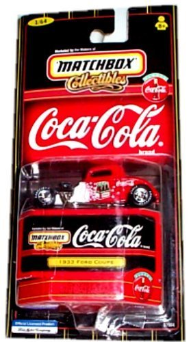 matchbox-collectibles-coca-cola-collection-1933-ford-coupe-red-white-164-scale-by-coca-cola