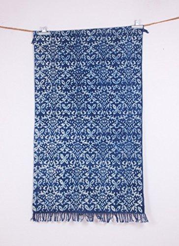 Vintage Hand Woven Indigo Color groß schöne 3x 5asiatischen Art Beautiful Teppich (Jaipur Rugs)