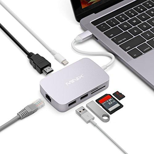 Minix PNI-MINIXC-XGR Adattatore Multiport USB da 100 Mbps