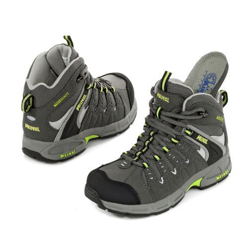 Meindl Snap Junior Mid, chaussures de sport - outdoor mixte enfant Gris - Grau (anthrazit/pistazie 9)