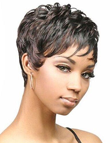 Perruque & xzl Perruques Fashion l'Europe et les États-Unis vendent comme des petits pains avec des perruques de cheveux naturels noirs d'âge moyen et vieux