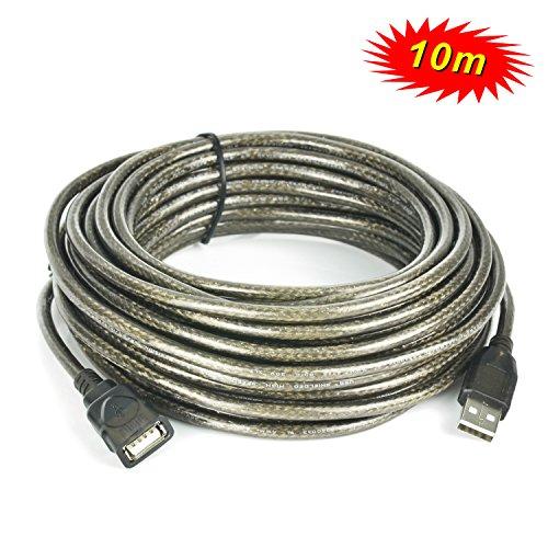 Incutex USB 2.0 Verlängerungskabel 480 Mbit/s USB Verlängerung mit Stecker/Buchse USB 2.0 Extension Cable, 10m