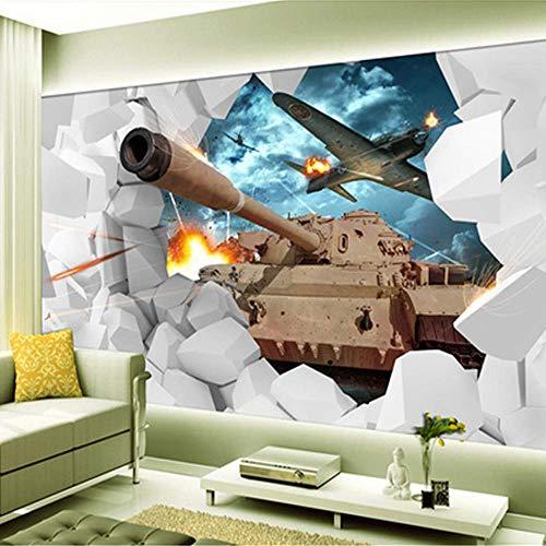 Wallpaper-bc carta da parati fotografica materiale di seta murale 3d carri armati a tema militare camera dei bambini sfondo 200×140cm decorazione di sfondo muro