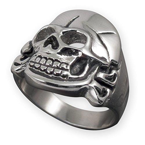 usaren Totenkopf Skull Finger-Ring Biker Edelstahl Schmuck Farbe Silber ( 21.0mm) risst012 (Halloween-die Ursprünge)