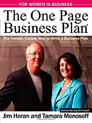 The One Page Business Plan for Women in Business