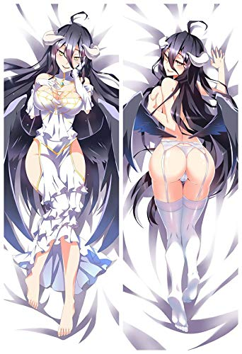 Home Goodnight Albedo -Overlord 2 Way Tricot 160cm x 50cm Anime Körper Kissenbezugs - Körper Kissen Kissenbezug