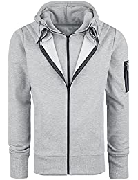 Assassin's Creed Double Layered Sweat à capuche zippé gris chiné