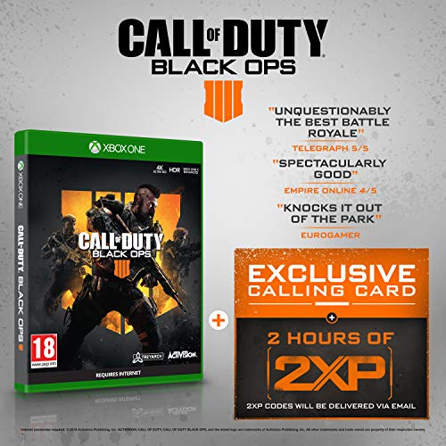 Price comparison product image Call of Duty®: Black Ops 4 with 2 Hours of 2XP + an Exclusive Calling Card (Exclusive to Amazon.co.uk) (Xbox One)
