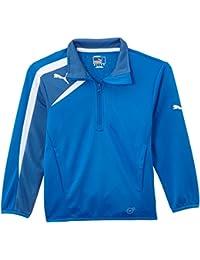 Puma Jacke Spirit Half Zip Training Jacket - Cortaviento, color azul/amarillo / azul marino, talla 8 años (128 cm)