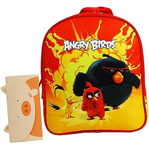 Angry Birds Bolso Escolar Guarderia Niño/a Chico/a Rojo