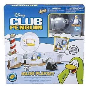 Disney – Club Penguin – Set Igloo Club Penguin – Inclus 1 Figurine Pingouin 5 cm et 1 Puffle