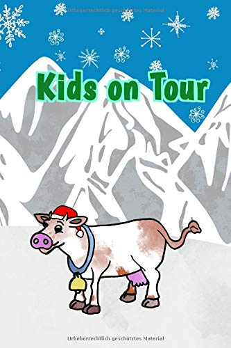 Kids On Tour: Reisetagebuch für Kinder I Motiv: Berge Winter WeihnachtenI 6 x 9