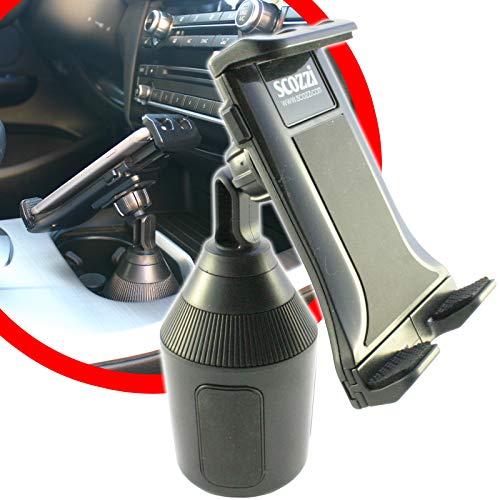 scozzi Handyhalterung Auto Getränkehalter Dosenhalter KFZ Halterung Halter universal Becherhalter zB kompatibel mit Samsung S10 S10e S9 S8 A70 A50 A40 Plus/Huawei P30 Pro Lite Mate 20/iPhone 11 X XS