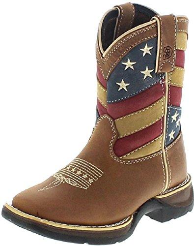 Durango Cowboy Mädchen Stiefel (FB Fashion Boots Durango Boots Lil´ Rebel DBT0198 Brown Patriotic/Kinder Westernreitstiefel Braun/Kinderstiefel, Groesse:33.5 (2 US))