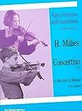 HANS MILLIES: CONCERTINO IN D IN THE STYLE OF MOZART - Leichtes Konzert im Stil von Mozart für Violine (1.Lage) und Klavier in D-Dur - mit Bleistift - Noten/sheet music