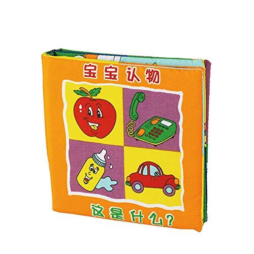 Jouets Éducatifs Livre De Tissu Livre De Paume L'Éducation De La Petite Enfance Coton Jouets pour Enfants 0-18 Mois Bébé