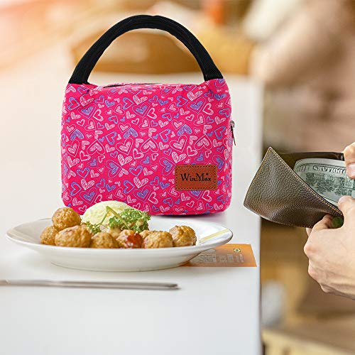 Reusable Insulated Lunch Bag by Winmax - Rose Red Heart