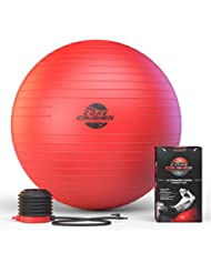 Ballon Suisse de gym 65 cm avec Pompe - Swiss Ball