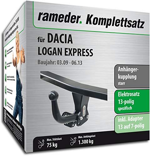 Rameder Komplettsatz, Anhängerkupplung starr + 13pol Elektrik für Dacia Logan Express (150505-08041-1) (Express Van Anhängerkupplung)