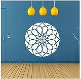 Wandaufkleber Design Platz Rose Heilige Geometrie Gestanzte Vinyl Wandtattoo Wandkunst Dekor Für Wohnzimmer Wohnkultur Poster Dekoration 45 * 45 Cm