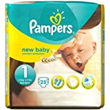 Pampers New Baby Taille 1 Carry Pack de 23 Couches Per Pack 2 x 23ct
