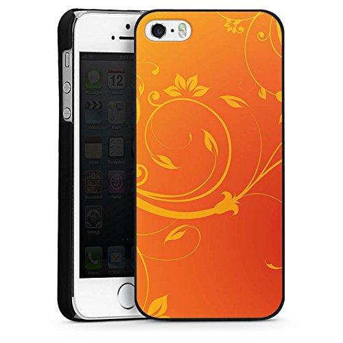 Apple iPhone 6 Housse Étui Silicone Coque Protection Ornements Fleurs Fleurs CasDur noir