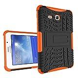 XITODA Samsung Galaxy Tab 3 Lite 7.0 Hülle, Hybrid PC + TPU Silikon Hülle Mit Stand Schutzhülle für Galaxy Tab 3 Lite 7.0 SM-T110/T111/T113/T116 Case Cover Tasche(Nicht für Galaxy Tab 3 7.0) - Orange