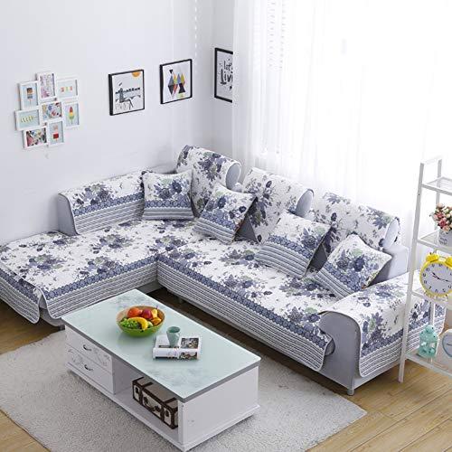 TT&CC Sofá de Tela Antideslizante Cubre,Cubre sofá Todo Incluido Universal Moderno Simple para 1 2 3 4 cojín sofá sofá Protector Funda-D Funda de almohada18*18in