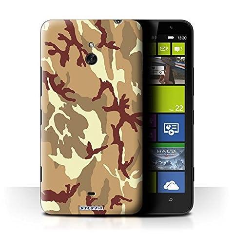 Coque de Stuff4 / Coque pour Nokia Lumia 1320 / Marron 4 Design / Armée/Camouflage Collection