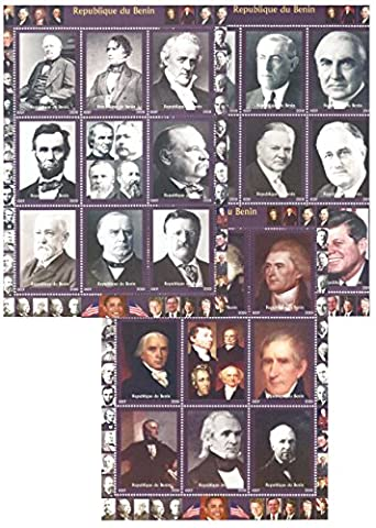 Stamps for collectors - US President stamps in mega stamp collection - 27 stamps - (Francobolli Washington)