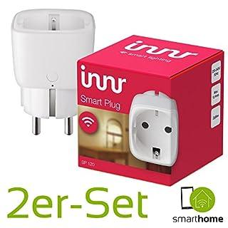 Innr Smart Plug on/off   2 x intelligente Smart-Home Steckdose   Funktioniert mit PHILIPS HUE*, OSRAM LIGHTIFY und innr-Fernbedienung   Zigbee-zertifiziert SP120   App-Steuerung