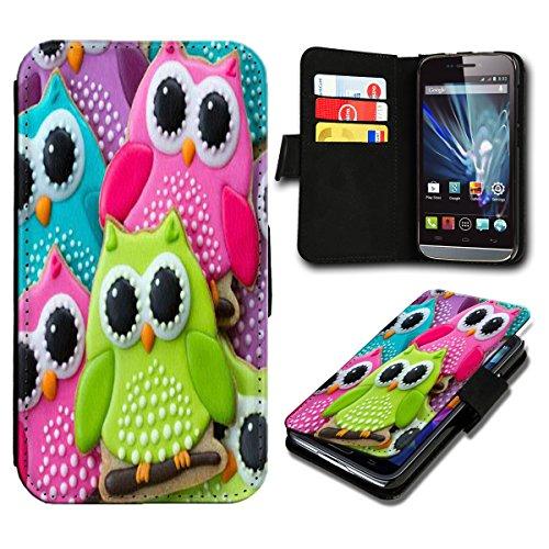 Book Style Huawei Ascend Y635 Premium PU-Leder Tasche Flip Brieftasche Handy Hülle mit Kartenfächer für Huawei Ascend Y635 - Design Flip SB463