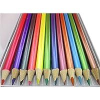 Spectrum - Set di pastelli per tutti i tipi di lavori artistici (dipinti, disegni, lavori su tela), per bambini, per la casa, la scuola e l'ufficio, confezione di stagno da 12 pezzi, colori assortiti