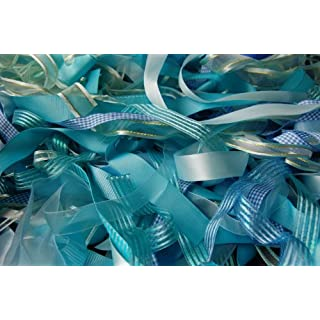 Assorted Blue / Turquoise Ribbon, Approx 25m Per Bag by Anycraft-UK