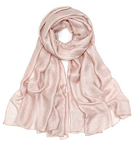 Superora Seiden-Tuch lang Schultertuch Umschlagstuch leichtes Seidenschal Damen Schal elegant für Sommer Frühling