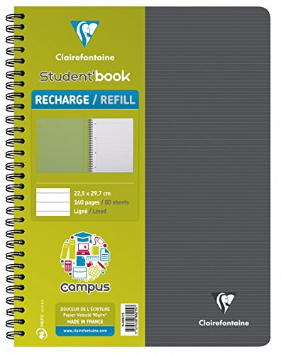Clairefontaine 888215C Nachfüllpackung Campus 2 Book, liniert, 80 Blatt