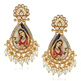 #7: Meenaz Traditional Pearl Jewellery Gold Rani Padmavati Jhumki Party Wear Stylish Jhumka Earrings For women Girls Jewellery set for girls women - jhumki earrings-229