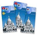 cardbox Motiv: Sacr-Cur de Montmartre /// 3er SET /// Kreditkartenhülle, Geschenkkartenhülle, Ausweishülle