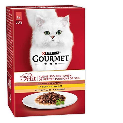 Gourmet Mon Petit Katzennassfutter Geflügel-Variationen, 8er Pack (8 x 6 x 50 g) Packung -