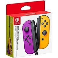 Nintendo Controller Nintendo Switch Set da 2 Joystick, Viola Neon e Arancione Neon
