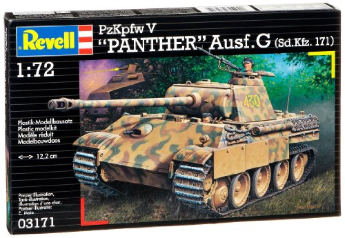 Revell Modellbausatz Panzer 1:72 - PzKpfw V PANTHER Ausf.G (Sd.Kfz. 171) im Maßstab 1:72, Level 4
