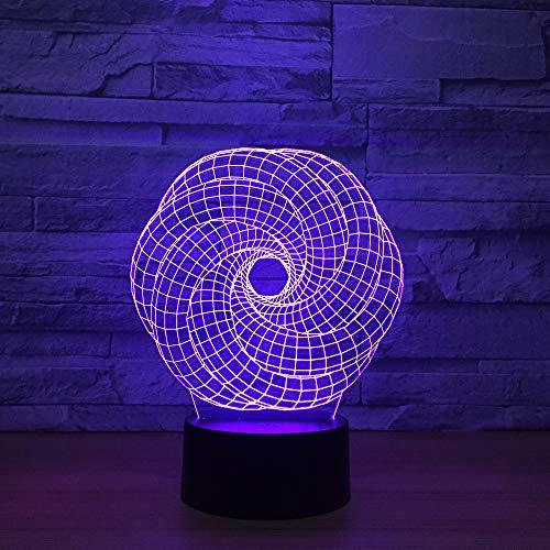 wangZJ 3D Led Night Light/Multicolor Rgb/Decorazioni per camera da letto/Regalo di Natale per bambini/Giocattoli Lampada/Arte e artigianato ideali/Regalo speciale di Hallow