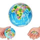 Globe Paesi Città Isole World Map Schiuma Sfera Atlas Globo Palm Palla Pianeta Terra della Sfera Stress Relief della novità Giocattoli