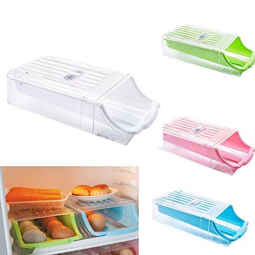 Natural Home Schublade Eierbox Eieraufbewahrung Kühlschrank Transportbox Kunststoff (White)