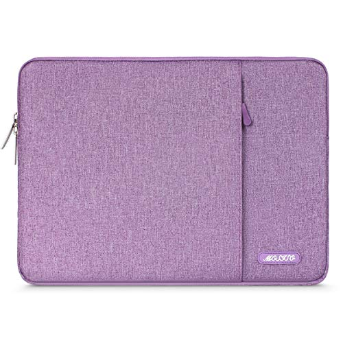 MOSISO Laptophülle Kompatibel 13-13,3 Zoll MacBook Air, MacBook Pro, Notebook Computer, Polyester Wasserabweisend Vertikale Stil Sleeve Hülle Schutzhülle Laptoptasche Notebooktasche, Licht Violett -
