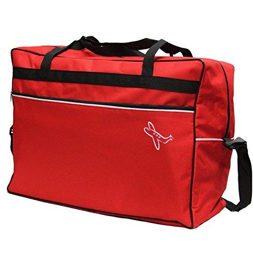 Handepäcktasche 600 Gramm von JEMIDI Reisetasche Handgepäck Koffer Reise Kabinen Tasche Bordgepäck Bordcase Cabin Rot Schwarz