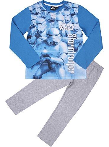 (Star Wars Jungen Schlafanzug aus Baumwolle EP2082 (Blau/Graphit (2168), 6 Jahre-116))