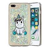 Everainy Coque Compatible pour iPhone 7 Plus/iPhone 8 Plus Silicone 3D Paillettes...