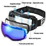 ALLROS-Maschere-da-Sci-Occhiali-Sci-Magnetici-Anti-Nebbia-OTG-Intercambiabile-Lente-Sferica-a-Doppio-Strato-Senza-Telaio-Occhiali-da-Veve-per-Uomini-e-Donne